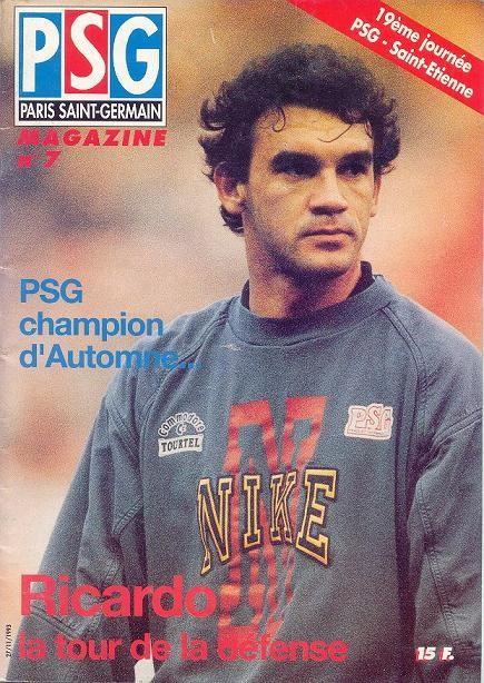 1993-11-27  PSG-Saint Etienne (19ème D1, PSG Magazine N°7)