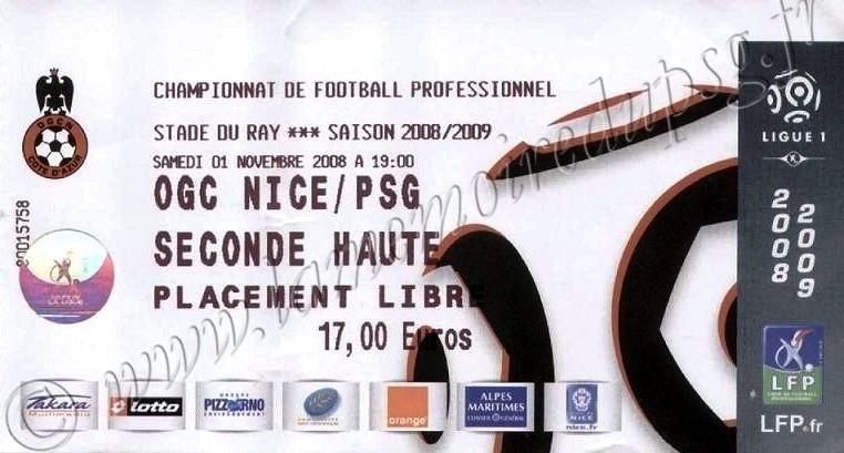 2008-11-01  Nice-PSG (12ème L1)