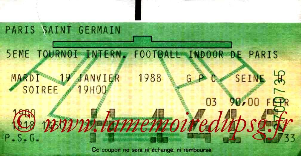 1988-01-19  PSG-Auxerre et PSG-Botafogo (5ème Foot indoor à Bercy, 2ème journée)