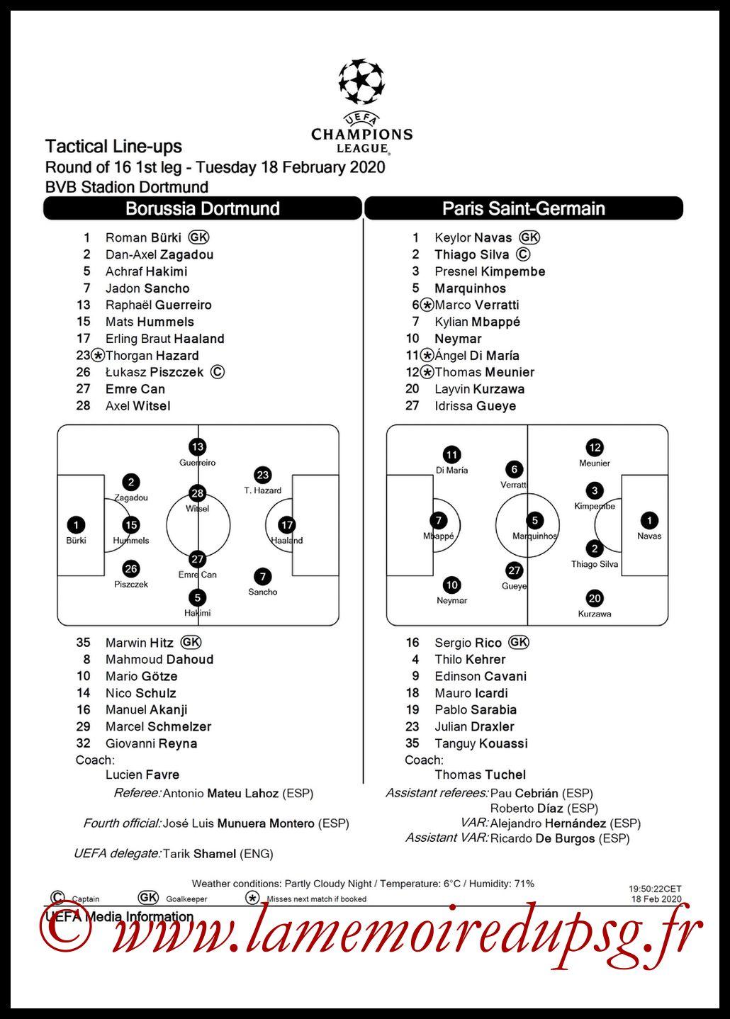 2020-02-12  Dijon-PSG (Quart CF, Feuille de match)