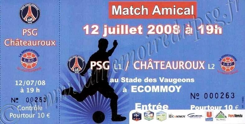 2008-07-12  PSG-Chateauroux (Amical à Ecommoy)