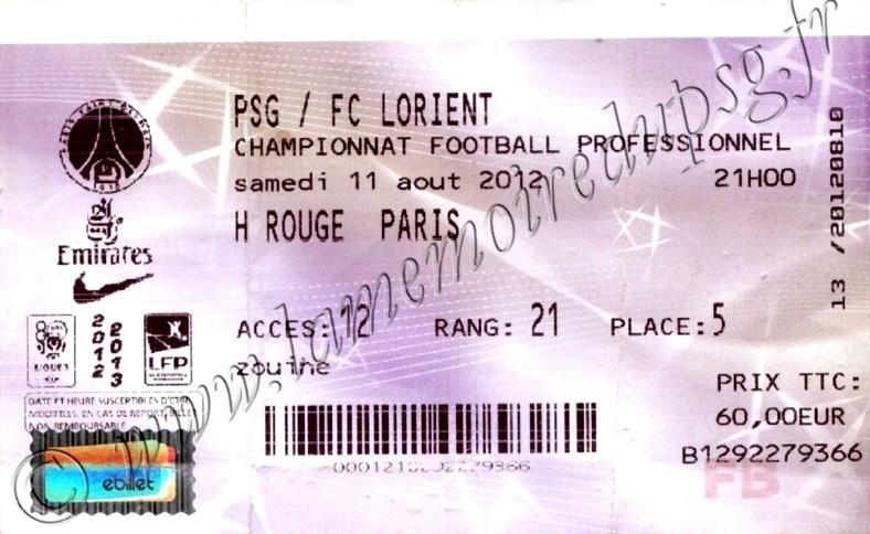 2012-08-11  PSG-Lorient (1ère L1, Billetel)
