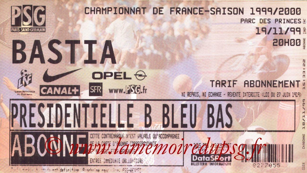 1999-11-19  PSG-Bastia (16ème D1)
