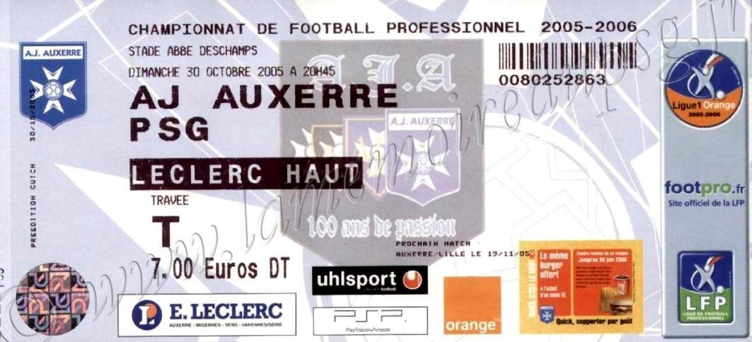 2005-10-30  Auxerre-PSG (13ème L1)