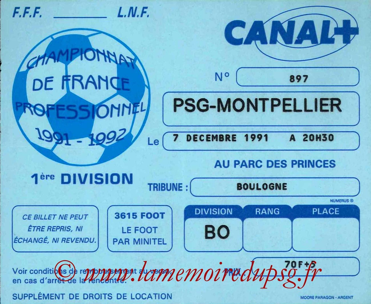 1991-12-07  PSG-Montpellier (21ème D1)