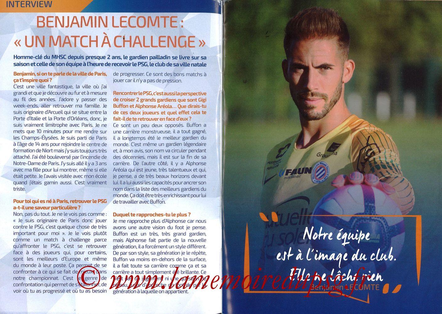 2019-04-30  Montpellier-PSG (34ème L1, L'Echo de la Mosson N°17) - Pages 02 et 03