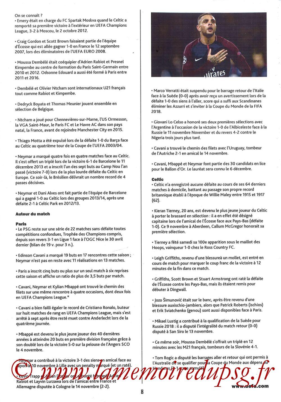 2017-11-22  PSG-Celtic (5ème Poule C1, Programme pirate) - Page 08