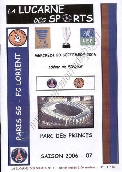 2006-09-20  PSG-Lorient (16ème Finale CL, La lucarne des sports N°4)