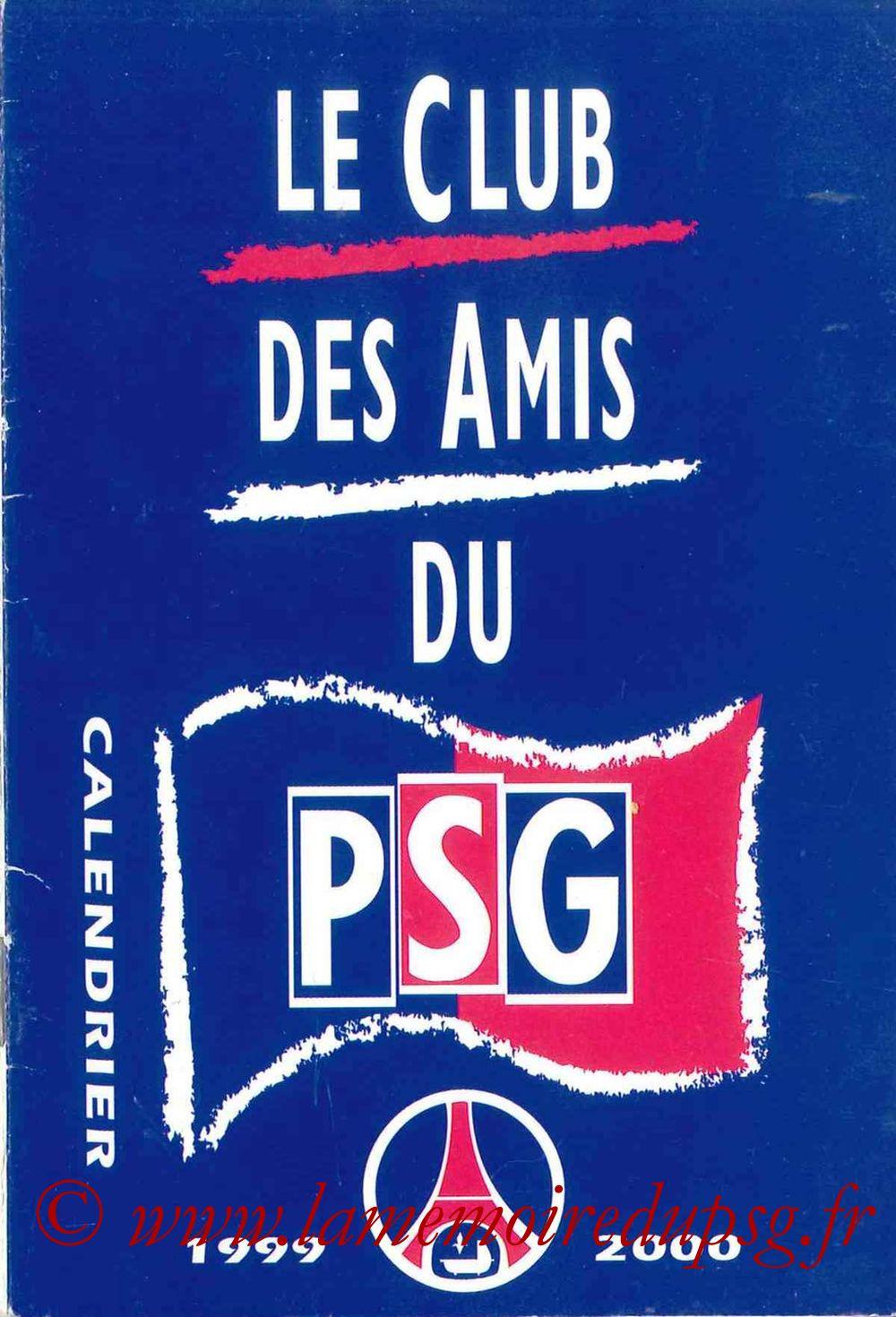 1999-00 - Guide de la Saison PSG - Couverture