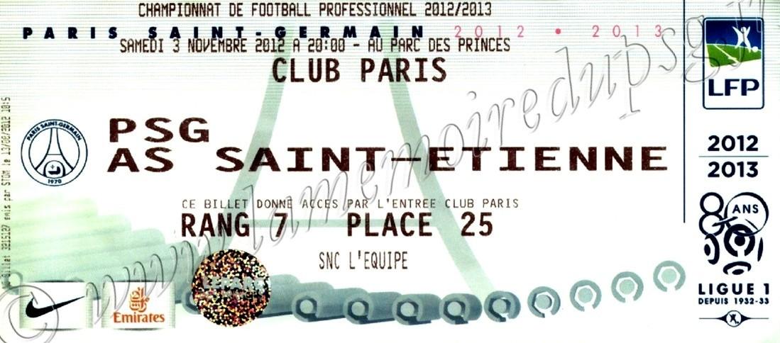 2012-11-03  PSG-Saint Etienne (11ème L1)bis