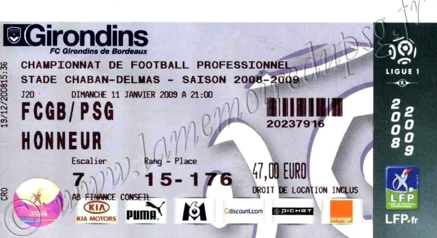 2009-01-11  Bordeaux-PSG (20ème L1)