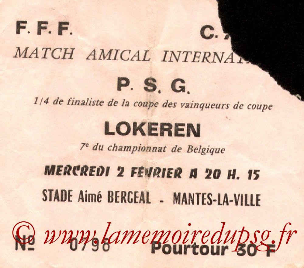 1983-02-02  PSG-Lokeren (Amical à Mantes-la-Ville)