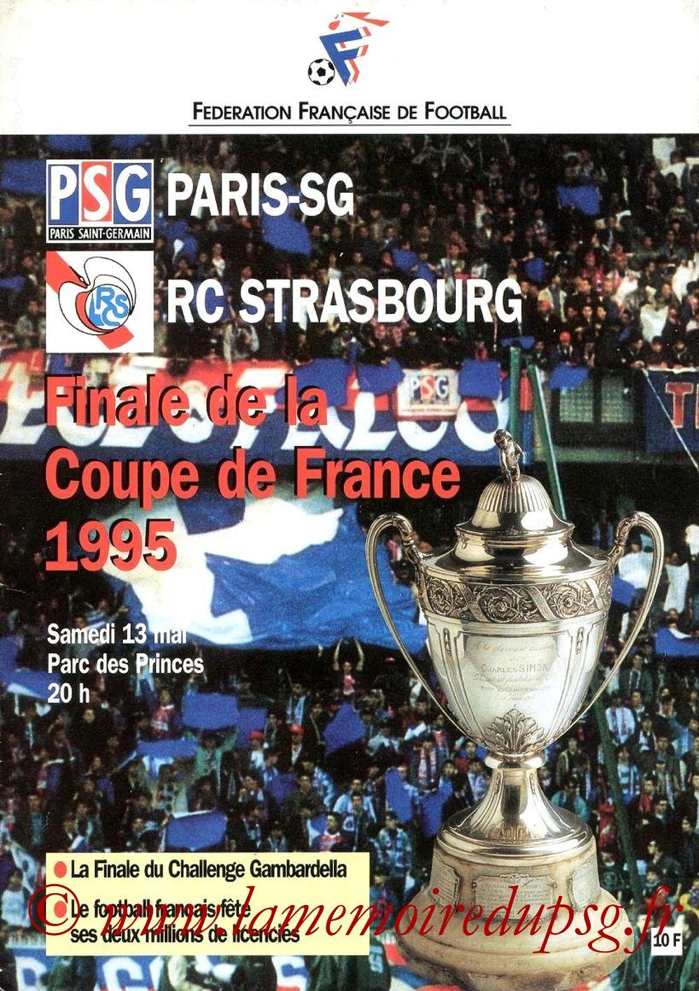 1995-05-13  PSG-Strasbourg (Finale CF au Parc des Princes, Officiel FFF)
