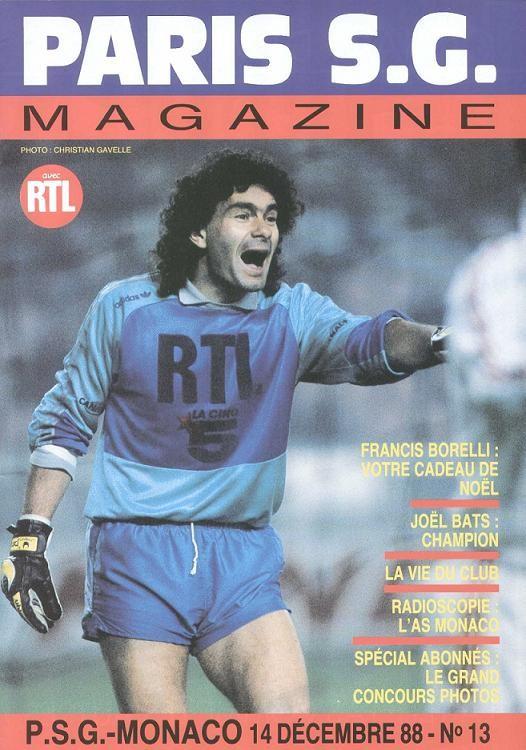 1988-12-14  PSG-Monaco (23ème D1, Paris SG Magazine N°13)