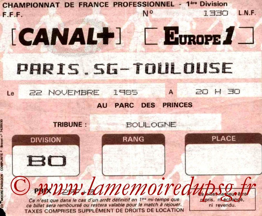 1985-11-22  PSG-Toulouse (21ème D1)