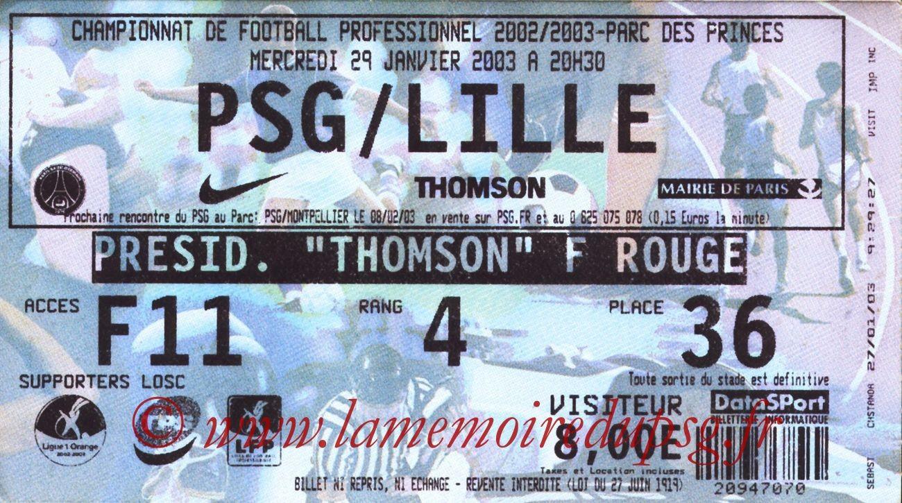2003-01-29  PSG-Lille (24ème L1)
