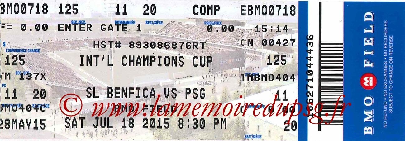 2015-07-18  Benfica-PSG (International Champions Cup à Harrison)