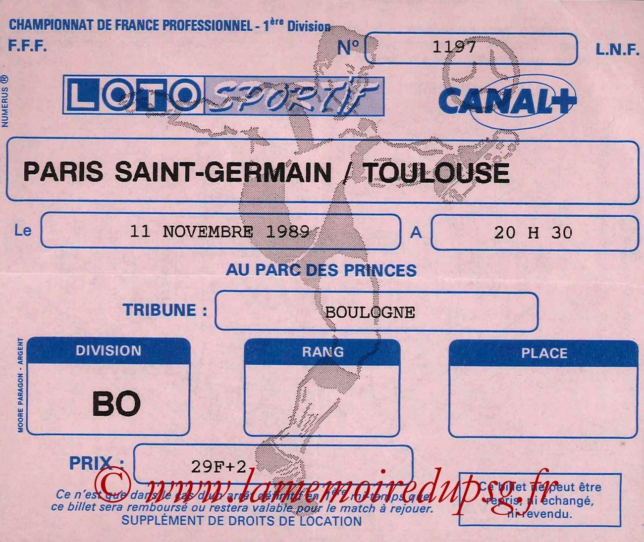 1989-11-11  PSG-Toulouse (19ème D1)
