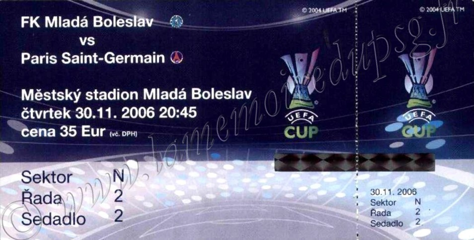 2006-11-30  Mlada Boleslav-PSG (4ème journée poule C3)