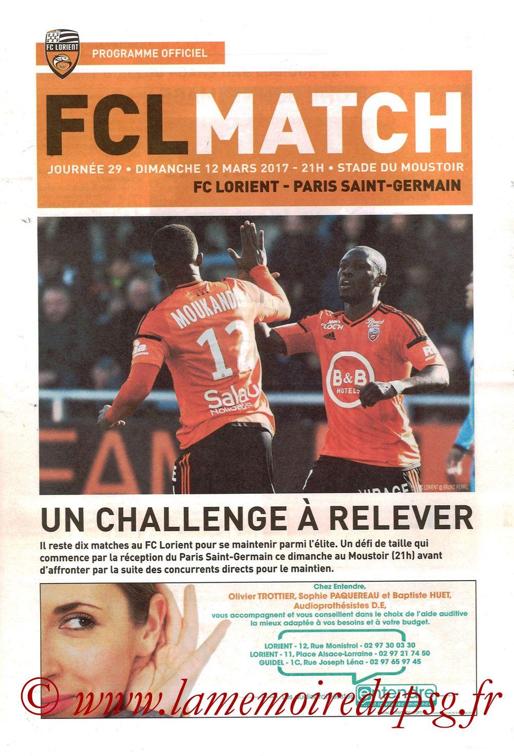 2017-03-12  Lorient-PSG (29ème L1, FCL Match)