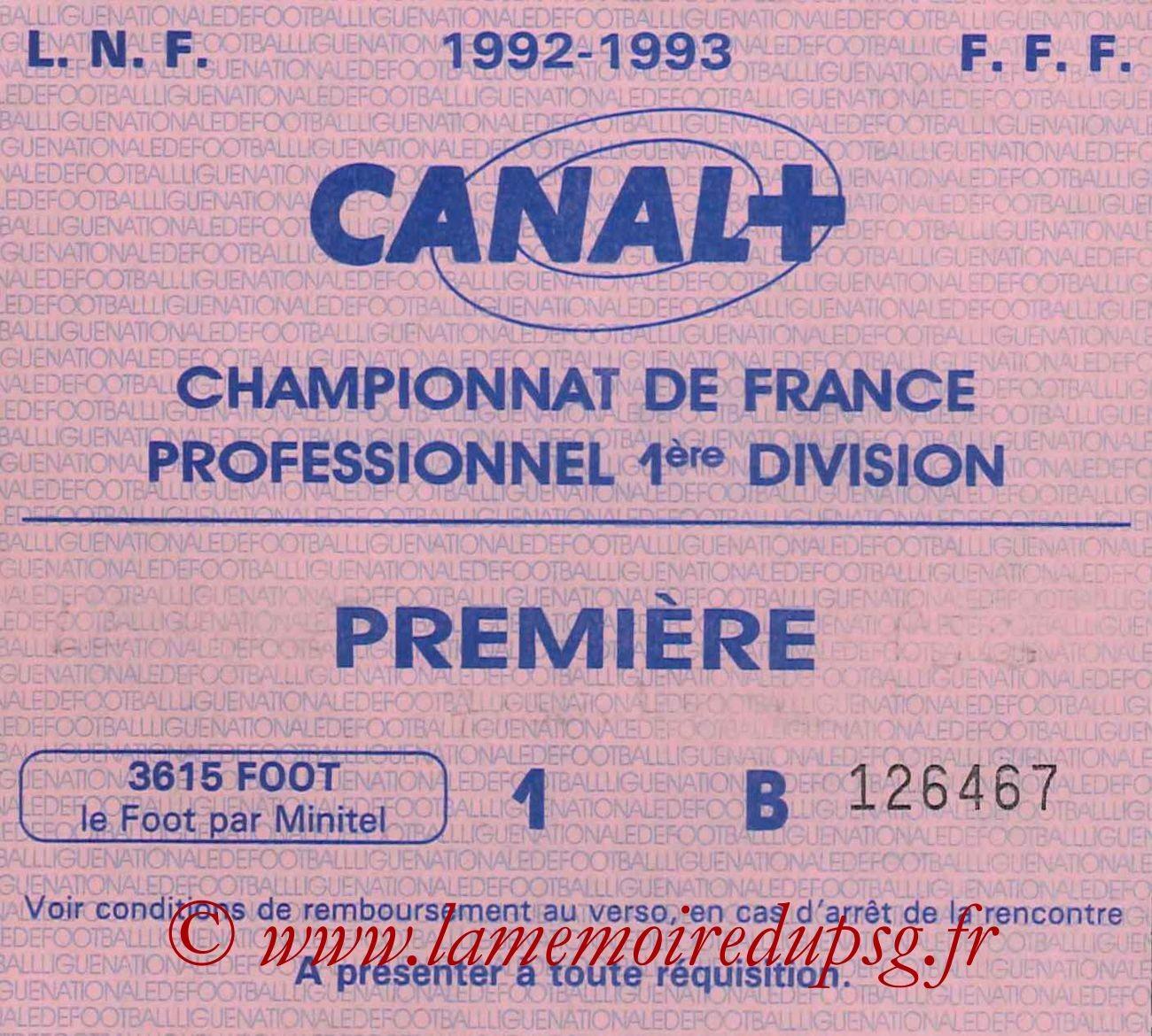1992-11-07  Le Havre-PSG (14ème D1, Sans nom)