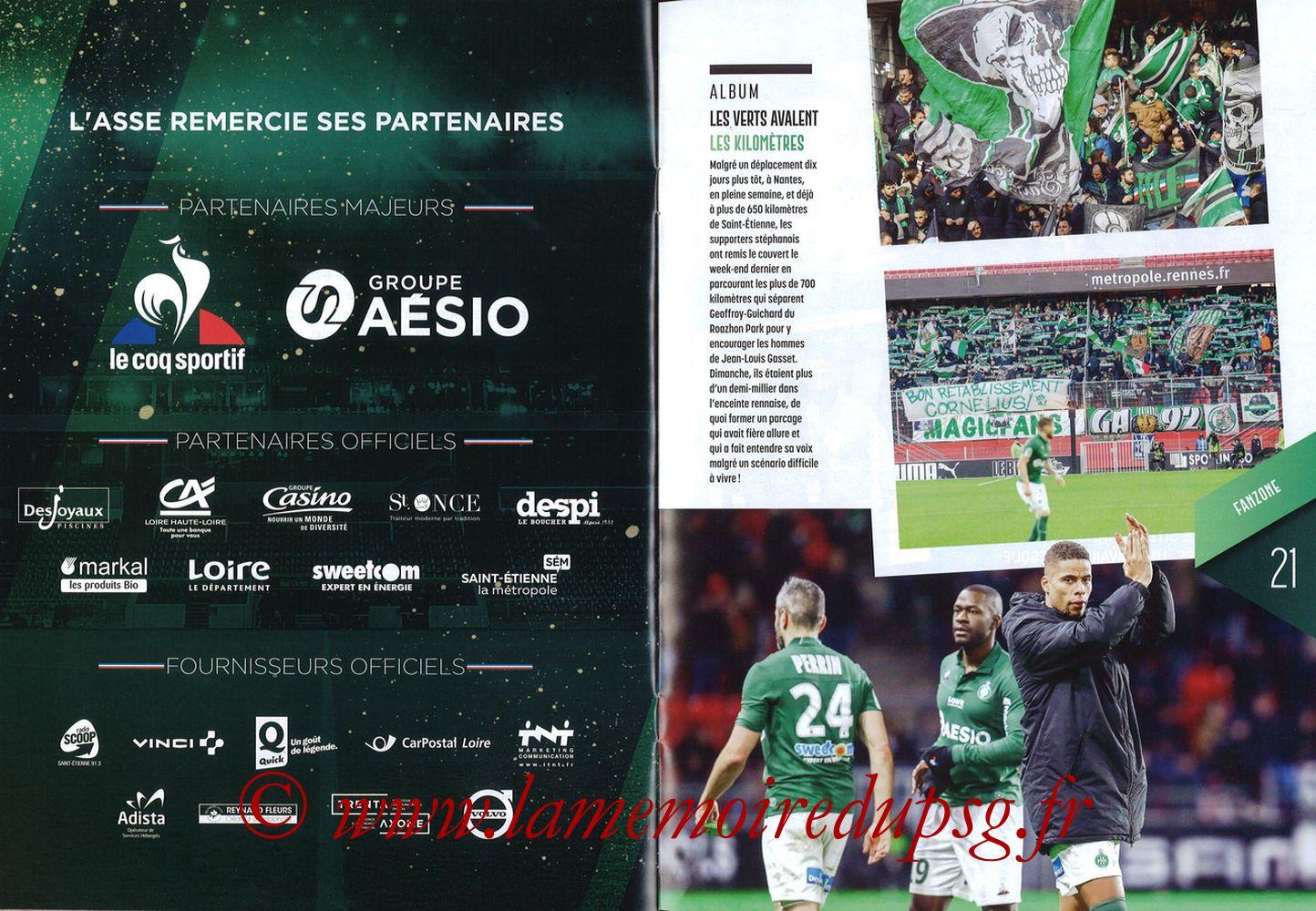 2019-02-17  Saint Etienne-PSG (25ème L1, Maillot Vert N° 13) - Pages 20 et 21