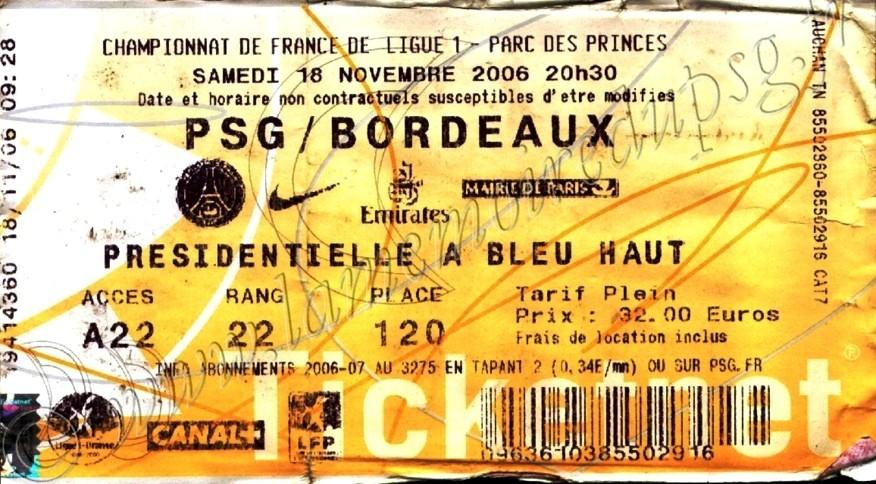 2006-11-18  PSG-Bordeaux (14ème L1, Ticketnet)