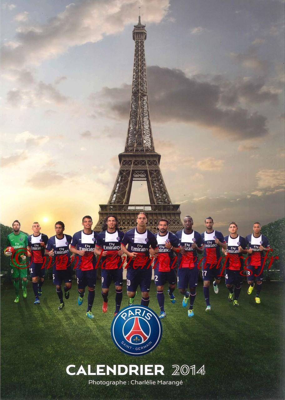 Calendrier PSG 2014 - Couverture