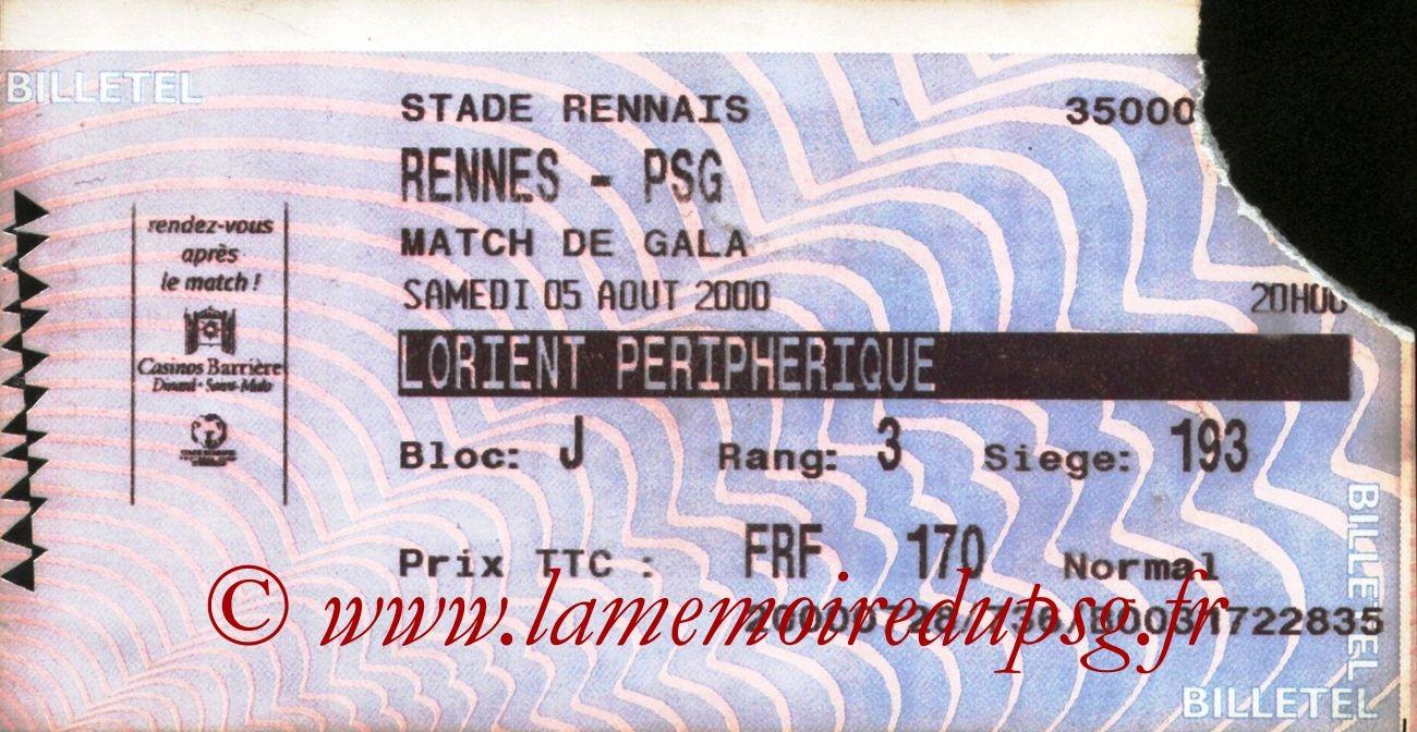 2000-08-05  Rennes-PSG (2ème D1, Billetel)