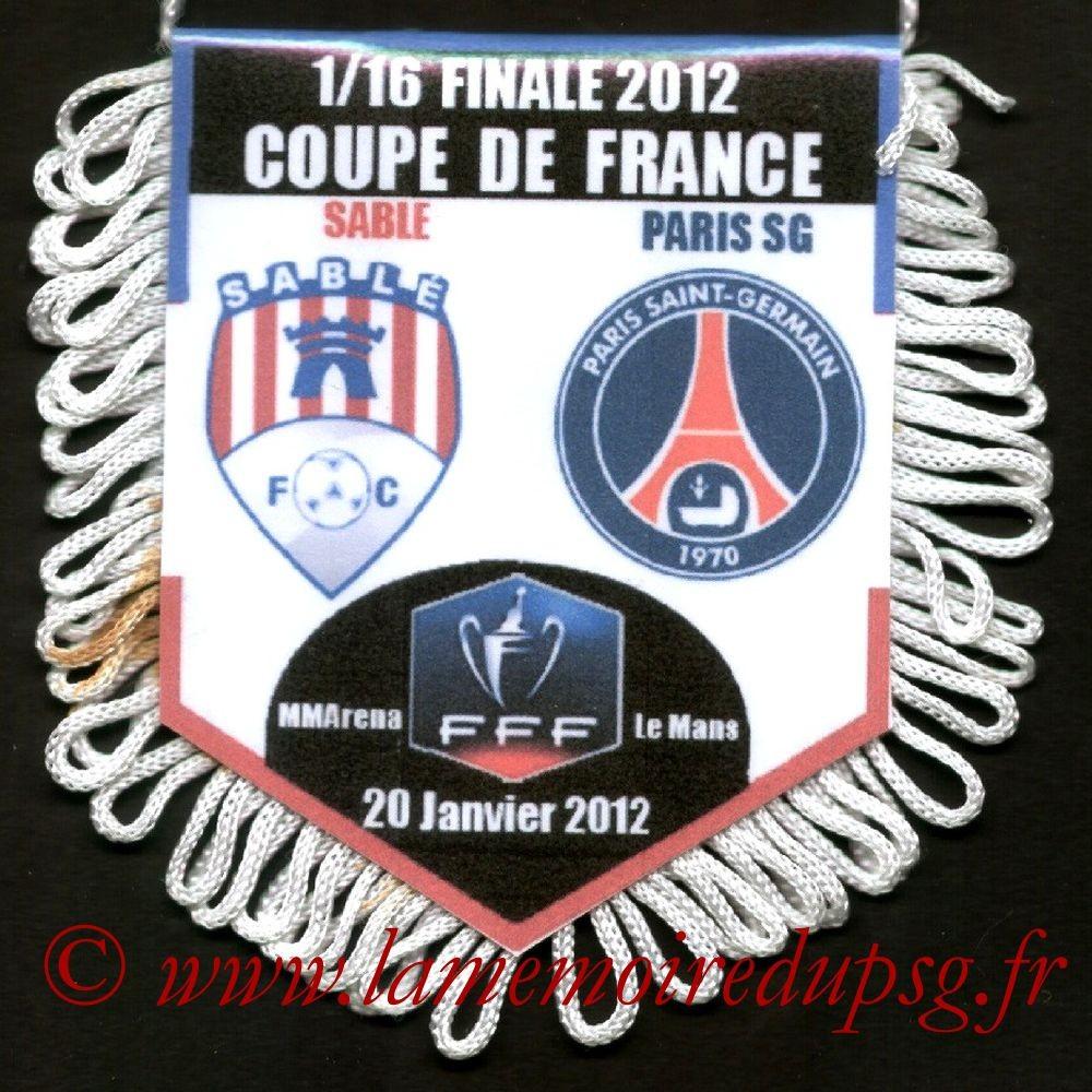 2012-01-20  Sablé Sur Sarthe-PSG (16ème CF au Mans)