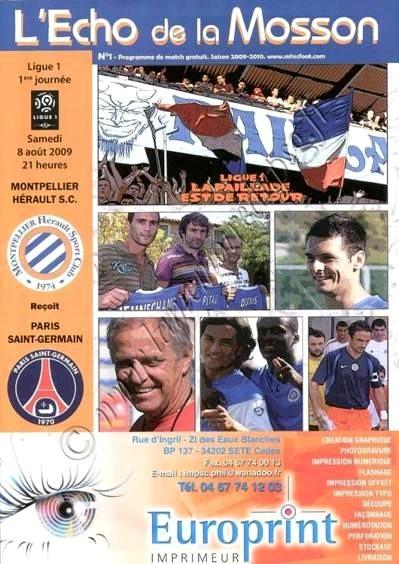 2009-08-08  Montpellier-PSG (1ère L1, L'Echo de la Mosson N°1)