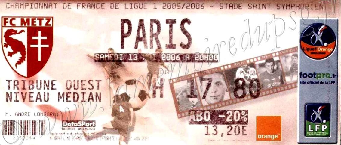 2006-05-13  Metz-PSG (38ème L1)