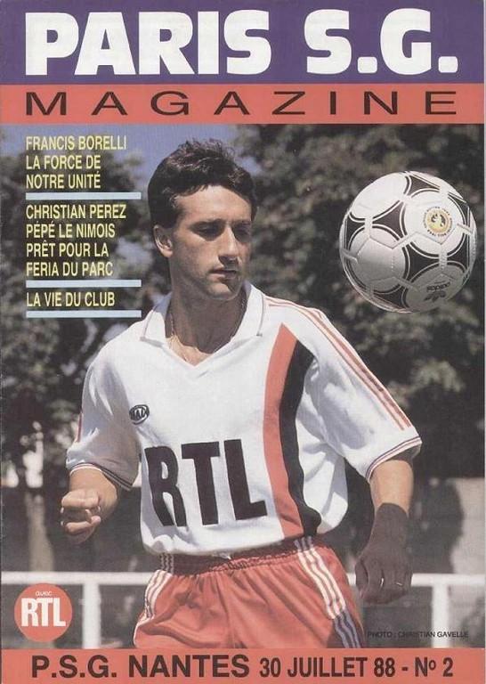 1988-07-30  PSG-Nantes (4ème D1, Paris SG Magazine N°2)
