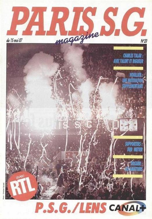 1987-05-15  PSG-Lens (35ème D1, Paris SG Magazine N°20)