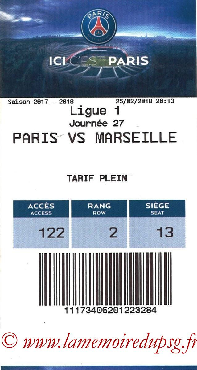 2018-02-28  PSG-Marseille (Quart CF, E-ticket)