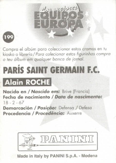 N° 199 - Alain ROCHE (Verso)