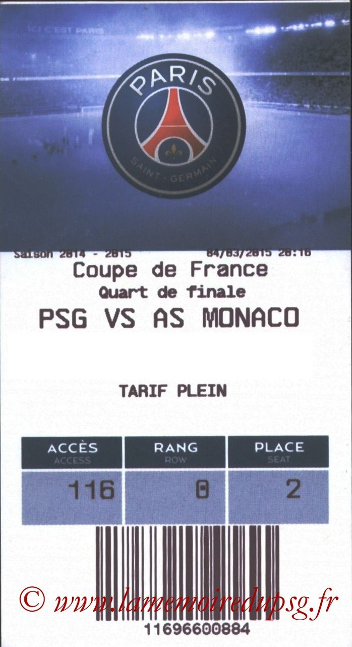 2015-03-04  PSG-Monaco (Quart CF, E-ticket)