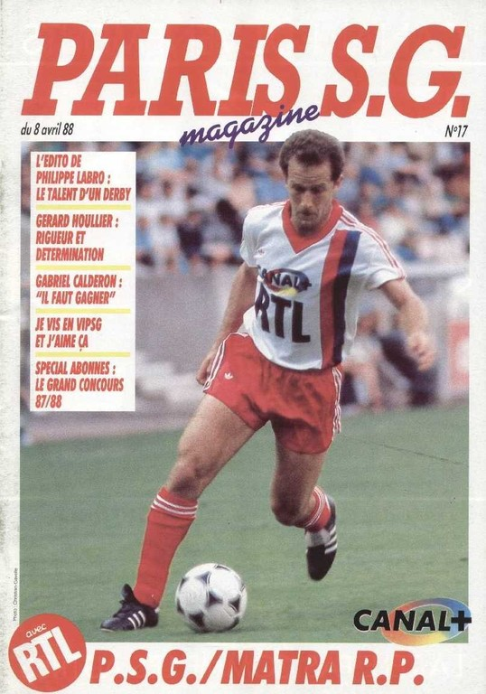 1988-04-08  PSG-Matra Racing (31ème D1, Paris SG Magazine N°17)