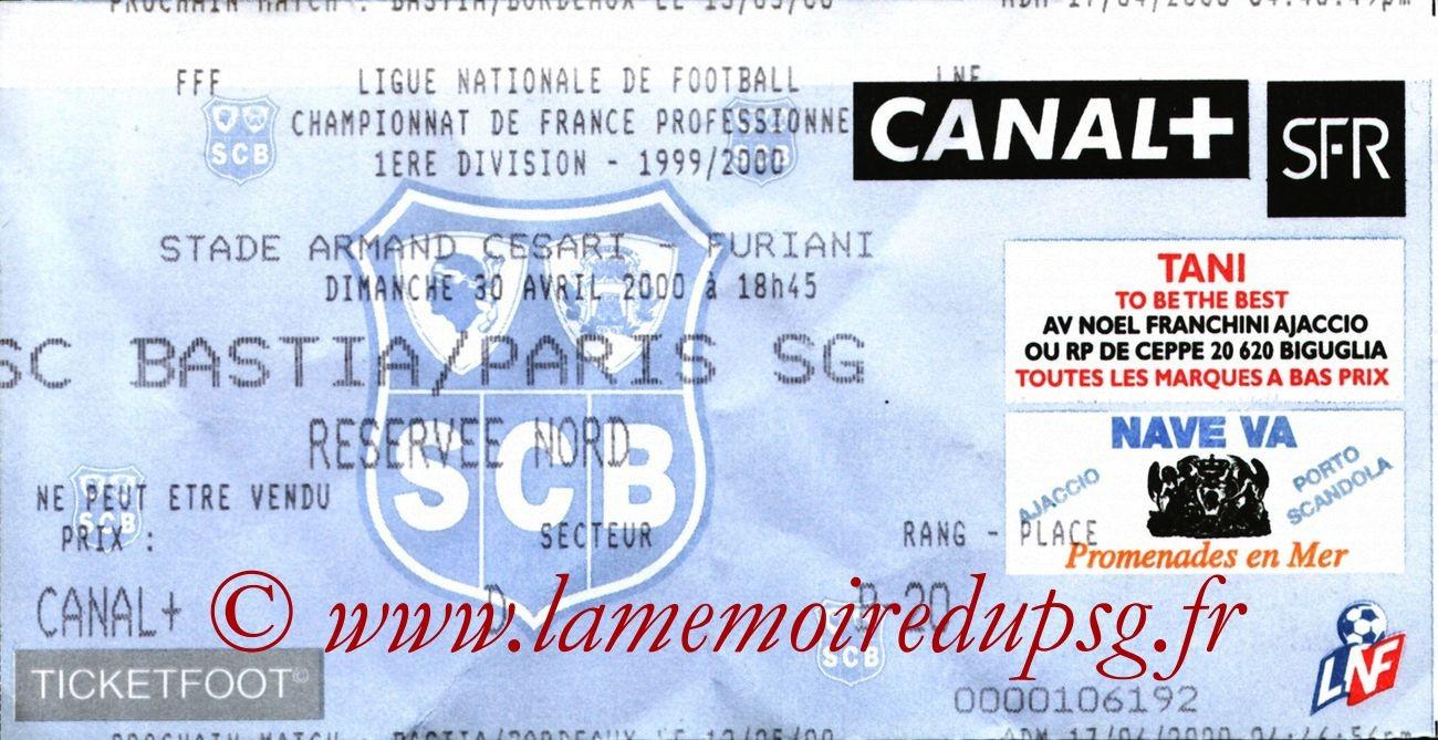 2000-04-30  Bastia-PSG (32ème D1)