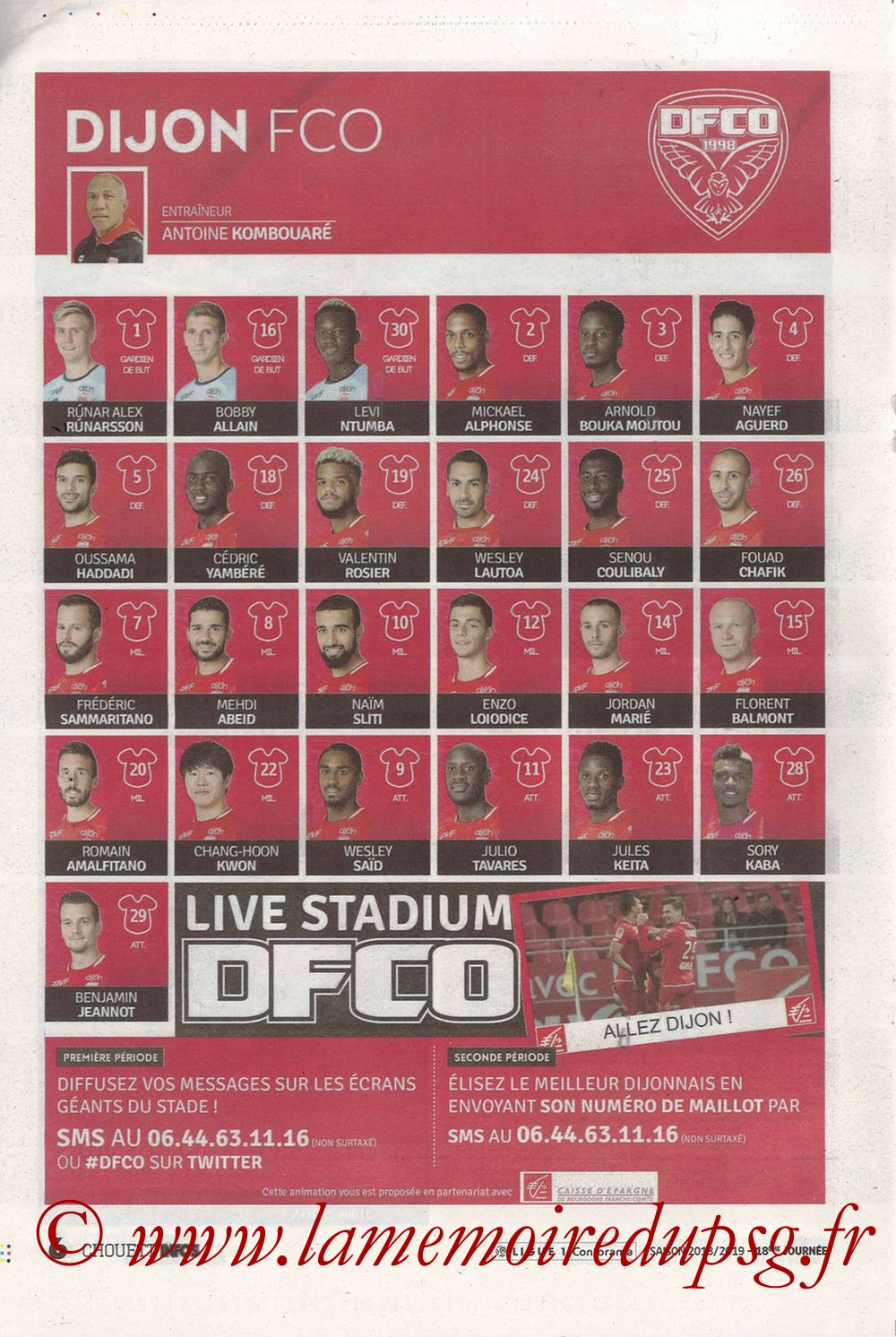 2019-03-12  Dijon-PSG (18ème L1 en retard, Chouett'Infos) - Page 06
