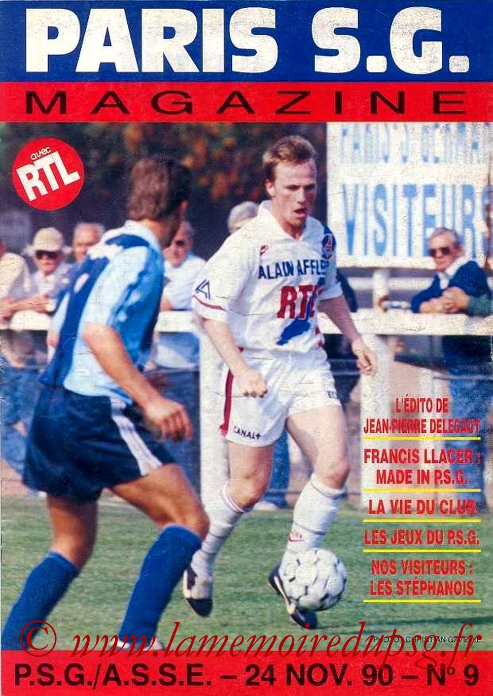 1990-11-24  PSG-Saint Etienne  (17ème D1, Paris SG Magazine N°9)