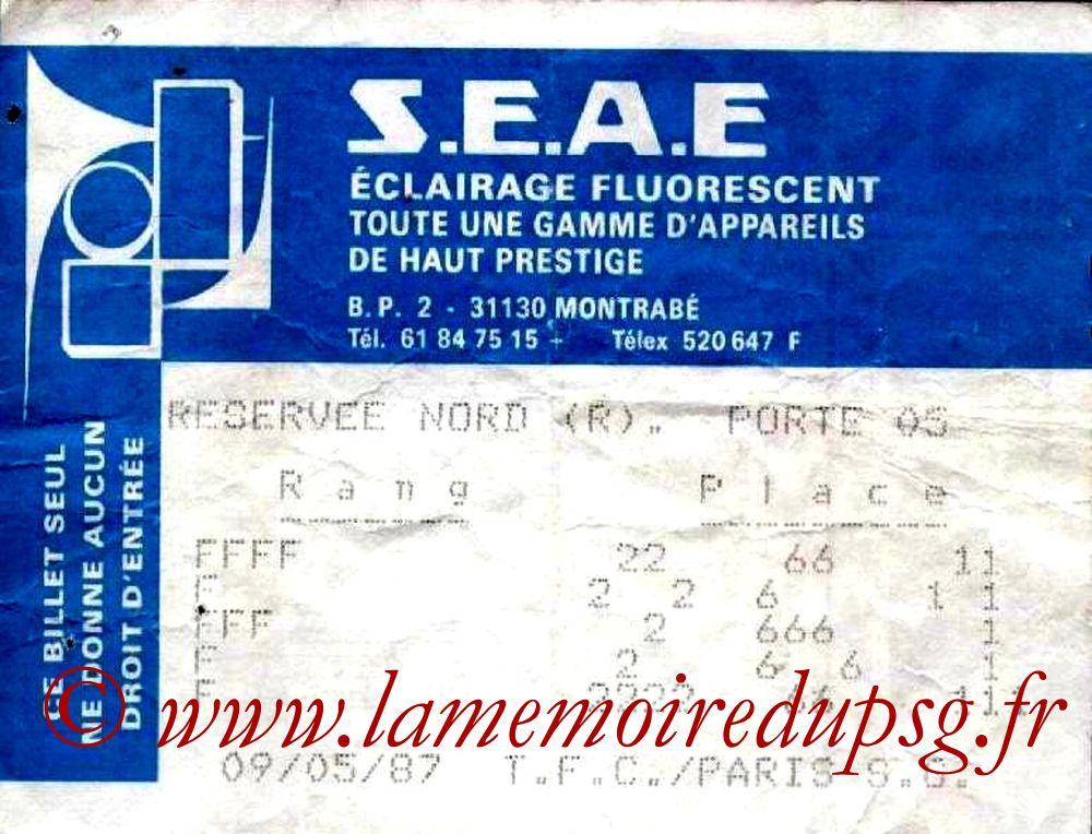 1987-05-09  Toulouse-PSG (34ème D1)