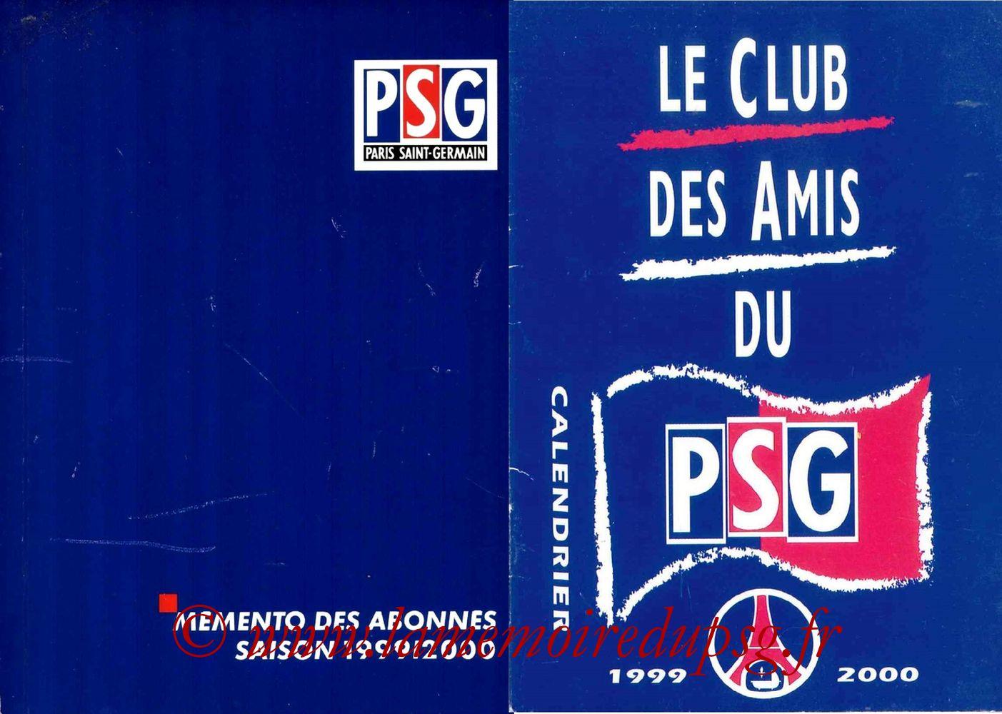 1999-00 - Guide de la Saison PSG