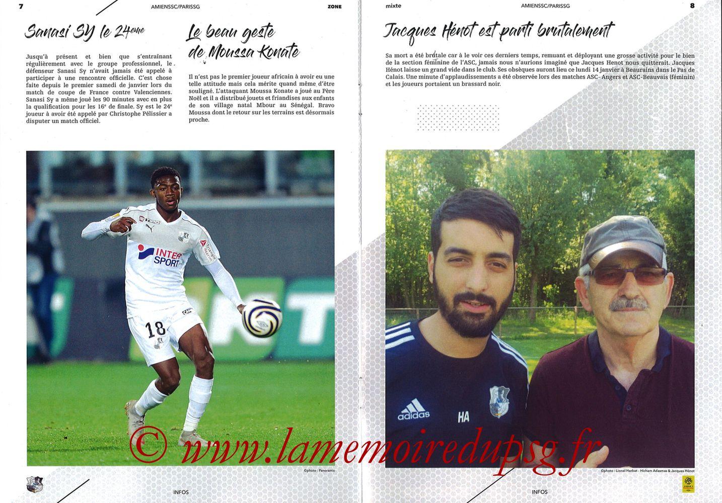 2019-01-12  Amiens-PSG (20ème L1, Zone mixte N°9) - Pages 07 et 08