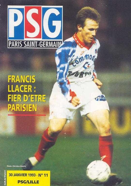 1993-01-30  PSG-Lille (23ème D1,  Le Magazine PSG N°11)
