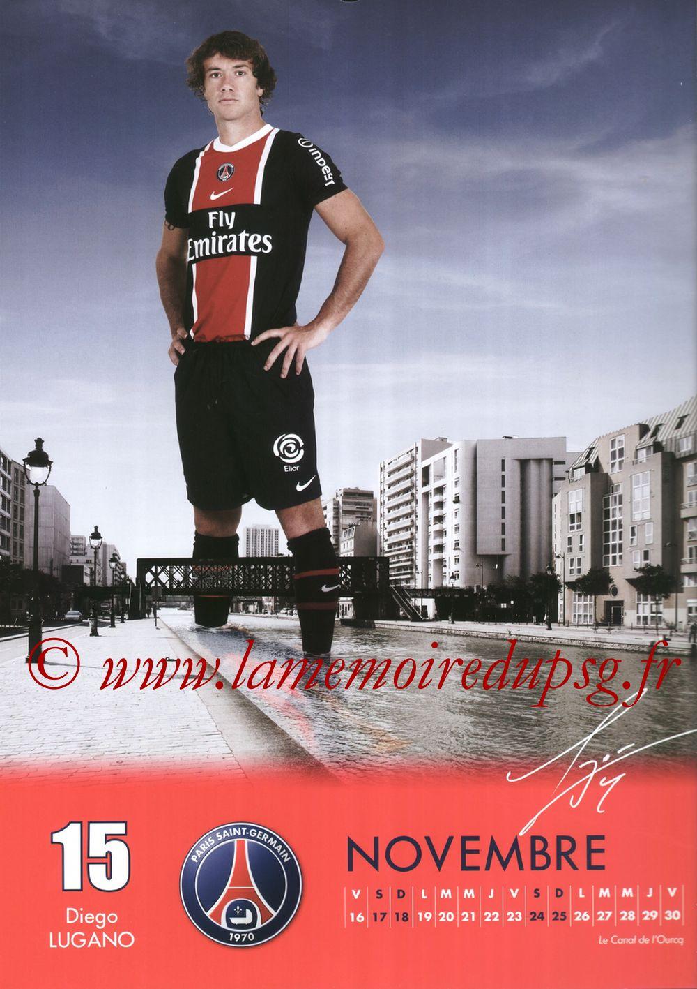 Calendrier PSG 2012 - Page 22 - Diego LUGANO