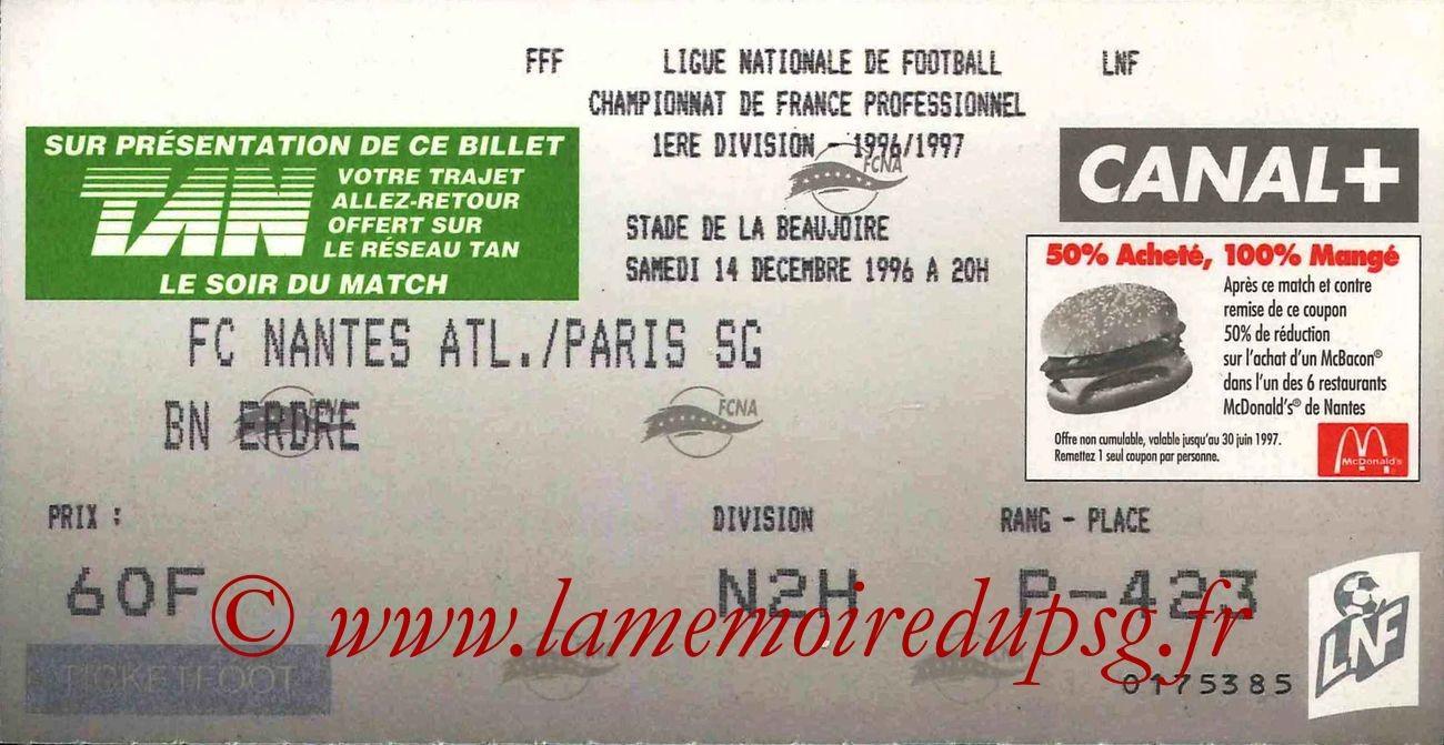 1996-12-14  Nantes-PSG (22ème D1)