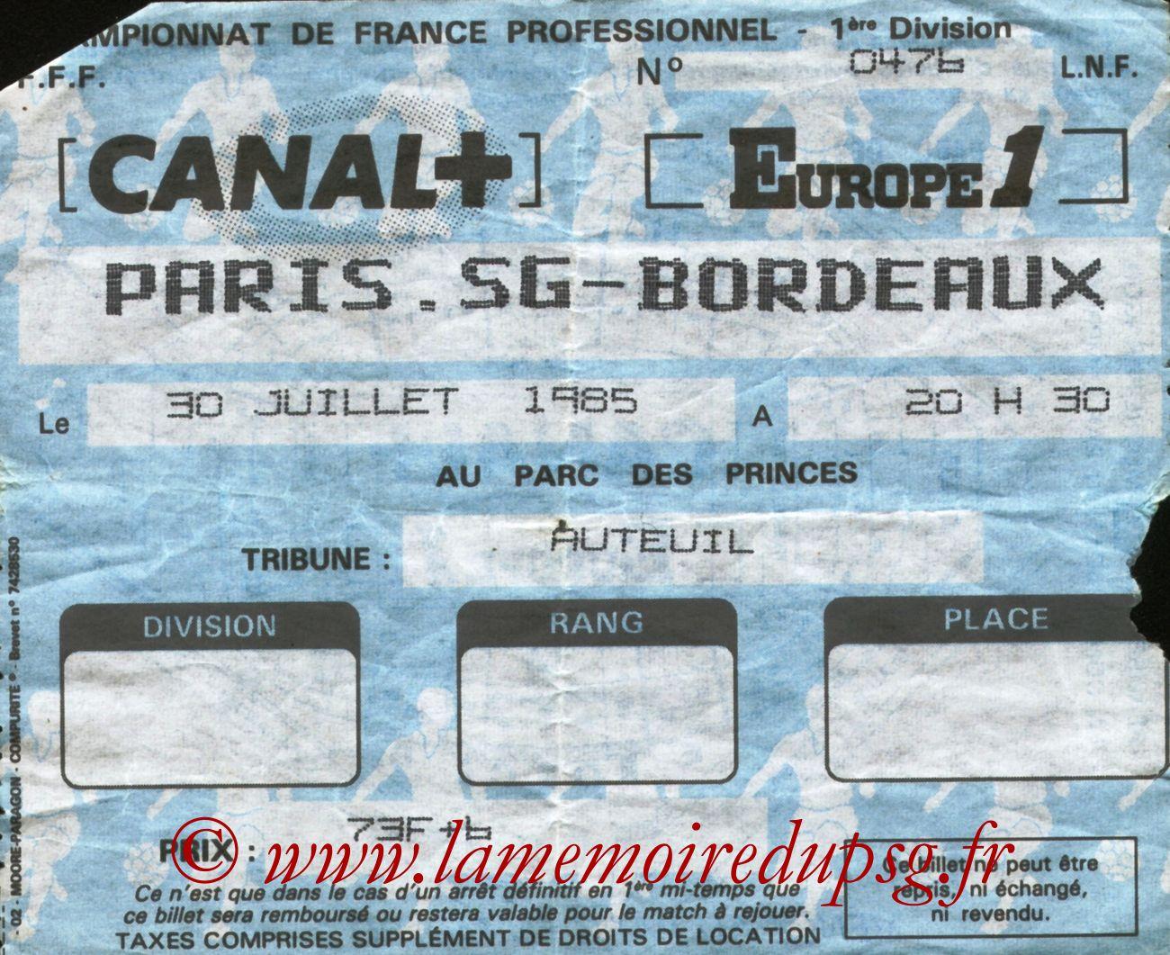 1985-07-30  PSG-Bordeaux (4ème D1)bis