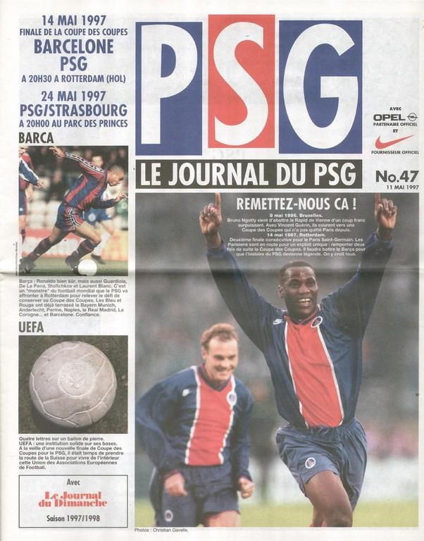 1997-05-14  PSG-Barcelone (Finale C2 à Rotterdam, Le Journal du PSG N°47)