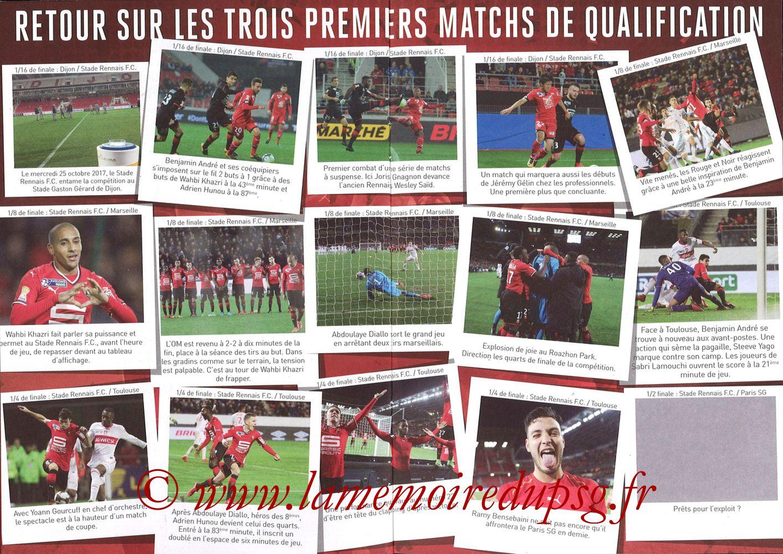 2018-01-30  Rennes-PSG (Demi CL, Programme Officiel) - Pages 06 et 07